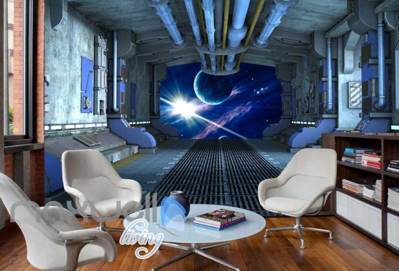 View Planets From Spaceship Art Wall Murals Wallpaper Decals Prints Decor IDCWP-JB-000813
