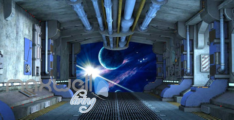 Image of View Planets From Spaceship Art Wall Murals Wallpaper Decals Prints Decor IDCWP-JB-000813