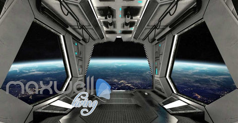 Image of View Planets From Spaceship Art Wall Murals Wallpaper Decals Prints Decor IDCWP-JB-000815