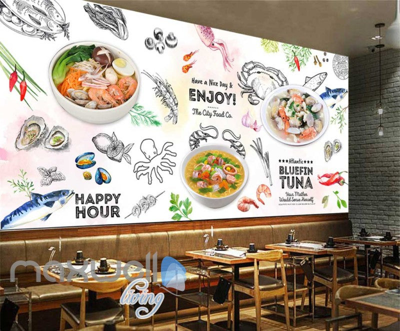 Graphic Design Collague Of Food Art Wall Murals Wallpaper Decals Prints Decor IDCWP-JB-000832