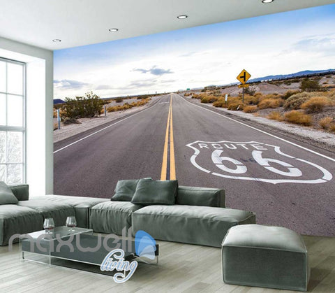 Image of Landscape Of Open Road Art Wall Murals Wallpaper Decals Prints Decor IDCWP-JB-000834