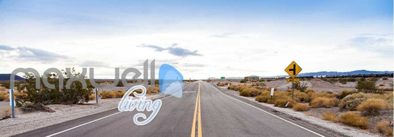 Landscape Of Open Road Art Wall Murals Wallpaper Decals Prints Decor IDCWP-JB-000834