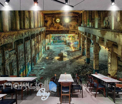 Image of Photograph Abandoned Building Art Wall Murals Wallpaper Decals Prints Decor IDCWP-JB-000835