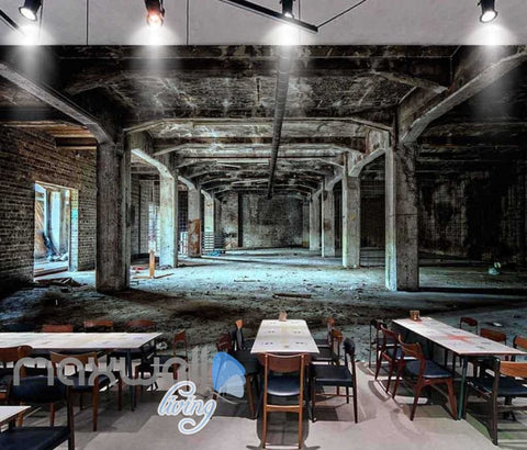 Image of Photograph Abandoned Building Art Wall Murals Wallpaper Decals Prints Decor IDCWP-JB-000836