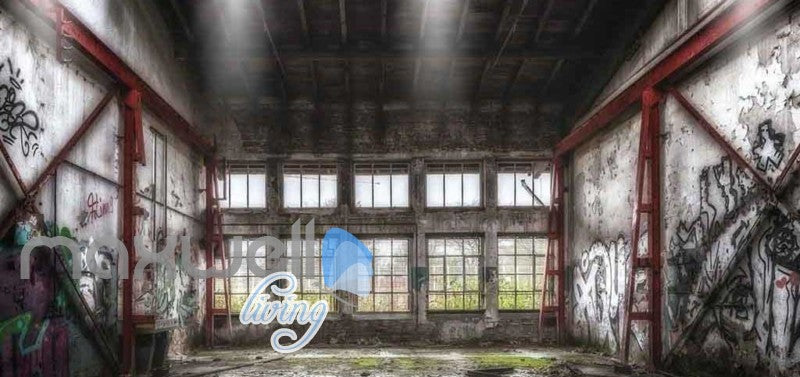 Photograph Abandoned Building Art Wall Murals Wallpaper Decals Prints Decor IDCWP-JB-000838