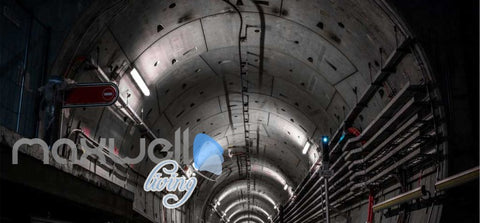 Image of Photograph Underground Tunnel Art Wall Murals Wallpaper Decals Prints Decor IDCWP-JB-000842
