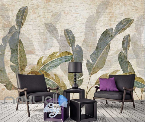 Image of Drawing Plant Leaves Art Wall Murals Wallpaper Decals Prints Decor IDCWP-JB-000846