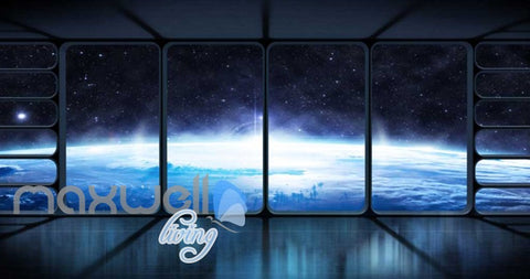 Image of View Of Space From Spaceship Art Wall Murals Wallpaper Decals Prints Decor IDCWP-JB-000865