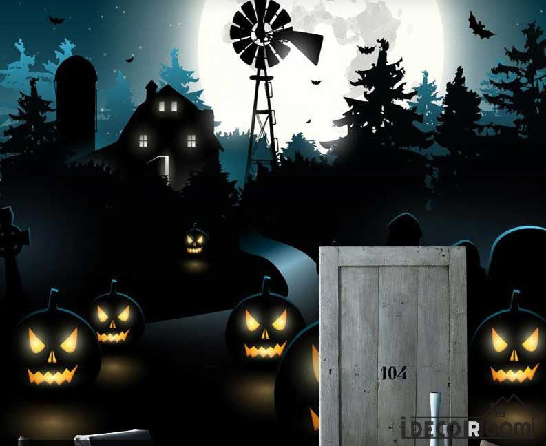 Graphic Design Halloween Theme Art Wall Murals Wallpaper Decals Prints Decor IDCWP-JB-000882