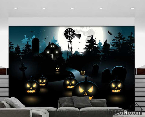 Image of Graphic Design Halloween Theme Art Wall Murals Wallpaper Decals Prints Decor IDCWP-JB-000882