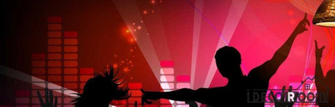 Image of Graphic Design People Dancing Silhouette Ktv Club Art Wall Murals Wallpaper Decals Prints Decor IDCWP-JB-000884
