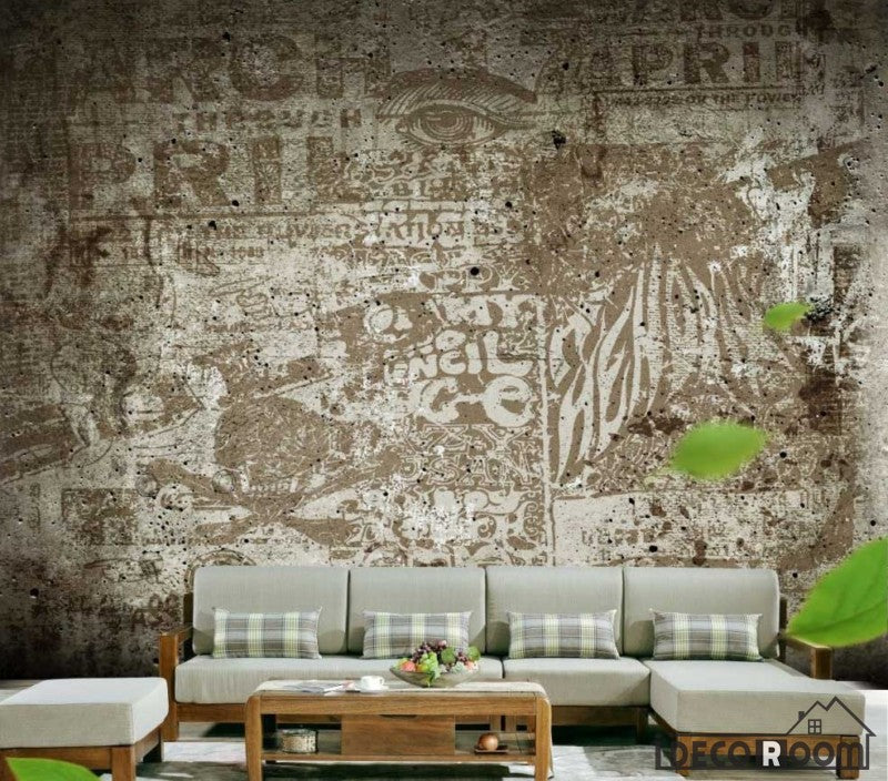 Graphic Design Wall Collage Living Room Restaurant Art Wall Murals Wallpaper Decals Prints Decor IDCWP-JB-000957