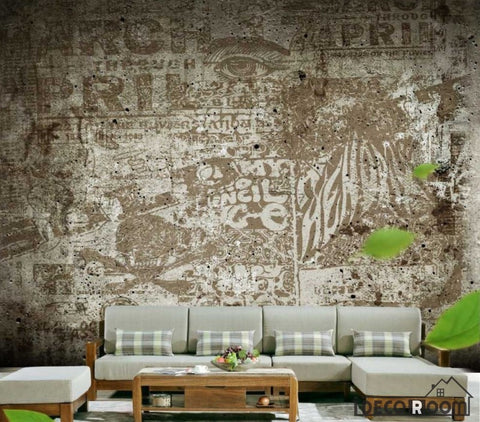 Image of Graphic Design Wall Collage Living Room Restaurant Art Wall Murals Wallpaper Decals Prints Decor IDCWP-JB-000957