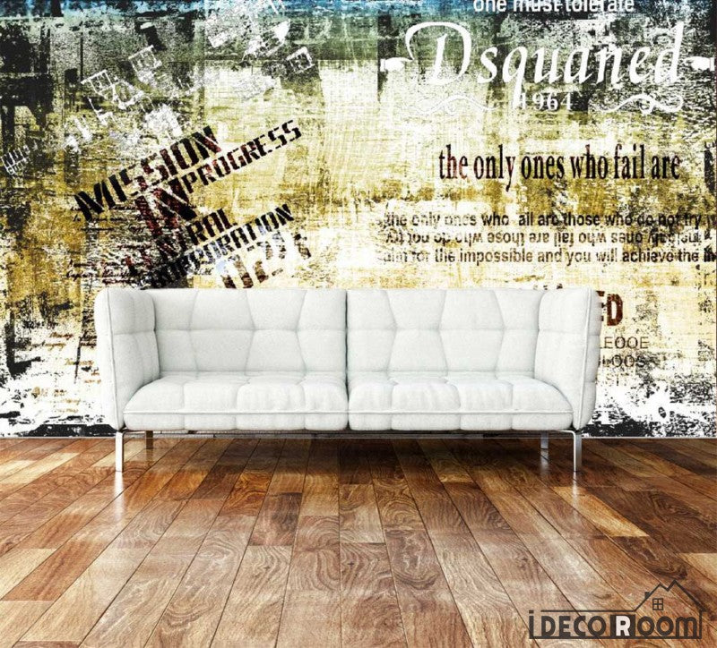 Bricolage Yellow Wall Living Room Art Wall Murals Wallpaper Decals Prints Decor IDCWP-JB-001010