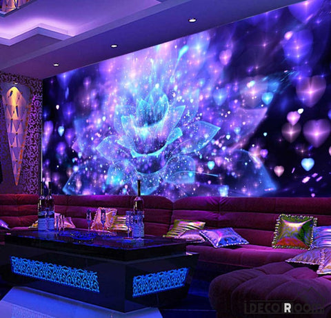 Image of Graphic Design Psychedelic Flower Ktv Club Art Wall Murals Wallpaper Decals Prints Decor IDCWP-JB-001013