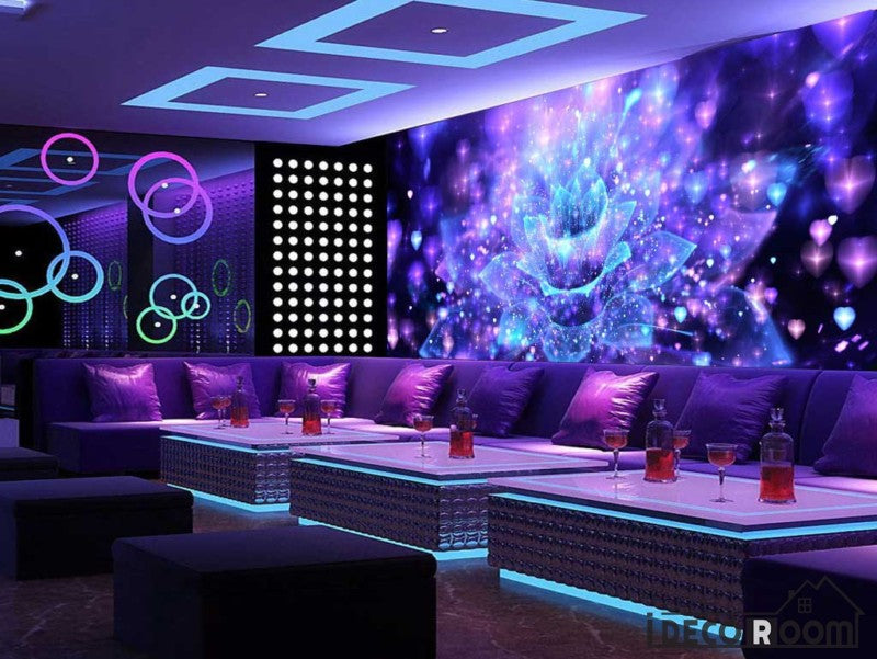 Graphic Design Psychedelic Flower Ktv Club Art Wall Murals Wallpaper Decals Prints Decor IDCWP-JB-001013
