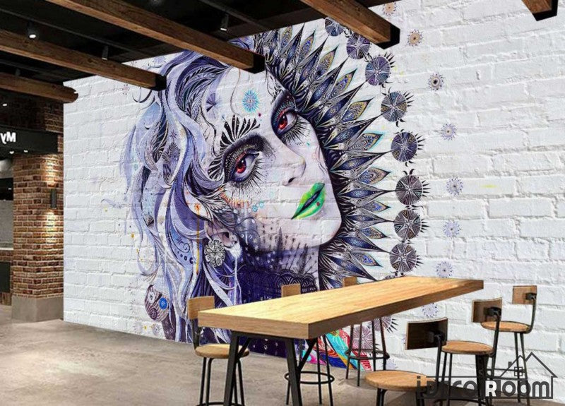 Graphic Design Graffiti Tattoo Girl Restaurant Art Wall Murals Wallpaper Decals Prints Decor IDCWP-JB-001126