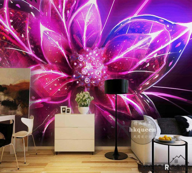 Graphic Design Colorful Flower Poster Living Room Art Wall Murals ...
