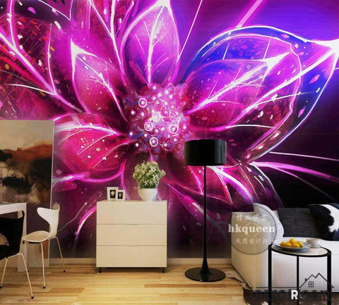 Image of Graphic Design Colorful Flower Poster Living Room Art Wall Murals Wallpaper Decals Prints Decor IDCWP-JB-001136