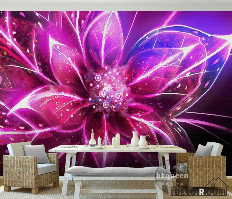 Graphic Design Colorful Flower Poster Living Room Art Wall Murals Wallpaper Decals Prints Decor IDCWP-JB-001136
