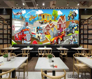 Kids Cartoon Poster Restaurant Art Wall Murals Wallpaper Decals Prints Decor IDCWP-JB-001174