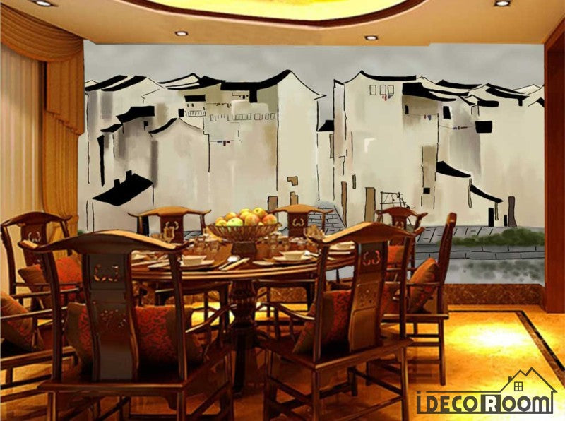 Drawing City Poster Restaurant Art Wall Murals Wallpaper Decals Prints Decor IDCWP-JB-001274