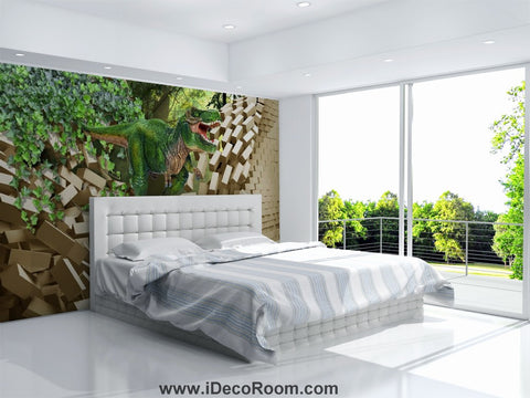 Image of Dinosaur Wallpaper Large Wall Murals for Bedroom Wall Art IDCWP-KL-000100