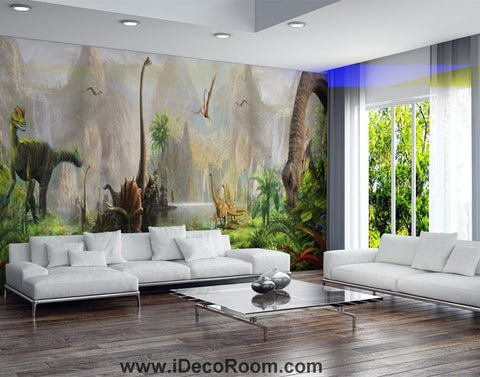 Image of Dinosaur Wallpaper Large Wall Murals for Bedroom Wall Art IDCWP-KL-000104
