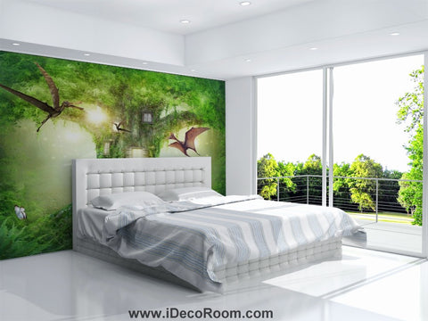 Image of Dinosaur Wallpaper Large Wall Murals for Bedroom Wall Art IDCWP-KL-000105