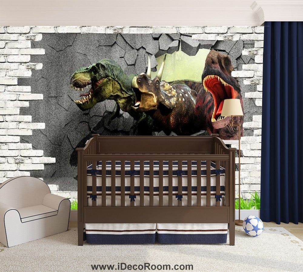 Dinosaur Wallpaper Large Wall Murals for Bedroom Wall Art IDCWP-KL-000107