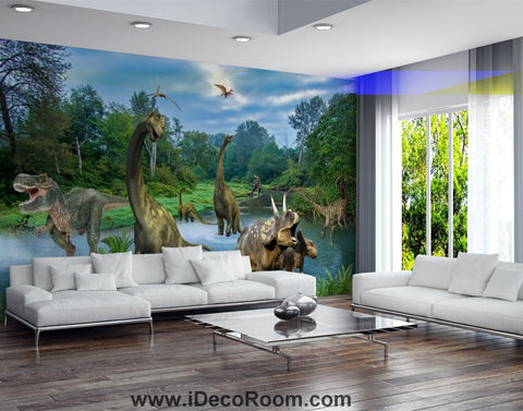 Image of Dinosaur Wallpaper Large Wall Murals for Bedroom Wall Art IDCWP-KL-000116