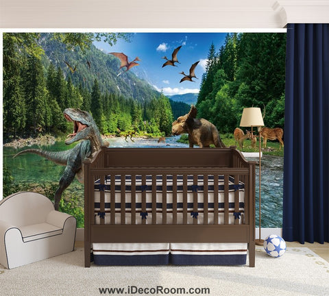 Image of Dinosaur Wallpaper Large Wall Murals for Bedroom Wall Art IDCWP-KL-000128