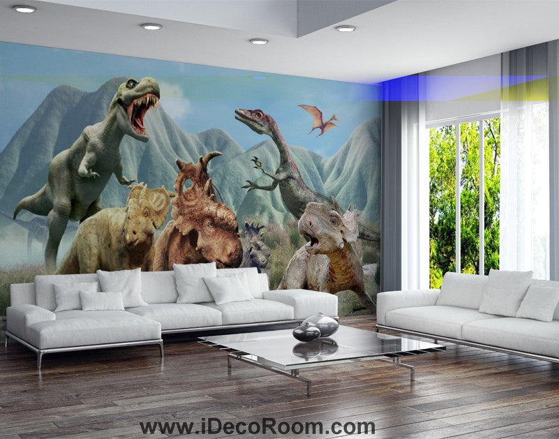 Dinosaur Wallpaper Large Wall Murals for Bedroom Wall Art IDCWP-KL-000131