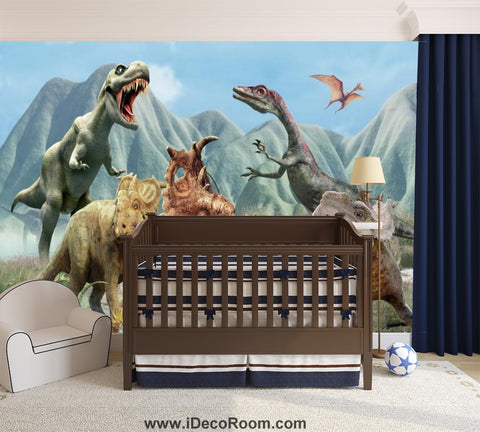 Image of Dinosaur Wallpaper Large Wall Murals for Bedroom Wall Art IDCWP-KL-000131