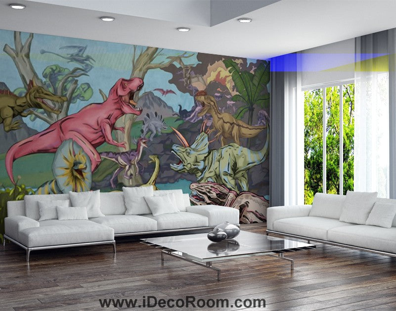 Dinosaur Wallpaper Large Wall Murals for Bedroom Wall Art IDCWP-KL-000133