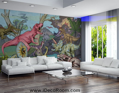 Image of Dinosaur Wallpaper Large Wall Murals for Bedroom Wall Art IDCWP-KL-000133