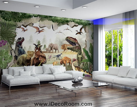 Image of Dinosaur Wallpaper Large Wall Murals for Bedroom Wall Art IDCWP-KL-000149