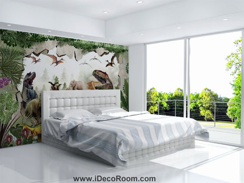 Dinosaur Wallpaper Large Wall Murals for Bedroom Wall Art IDCWP-KL-000149
