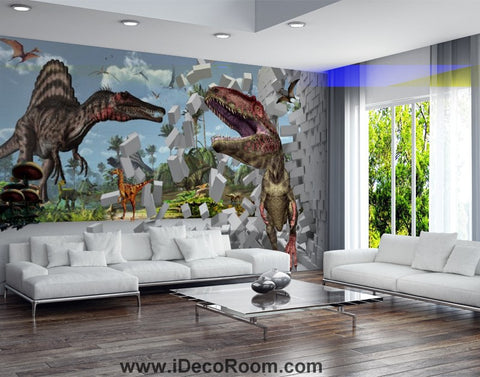 Dinosaur Wallpaper Large Wall Murals for Bedroom Wall Art IDCWP-KL-000152