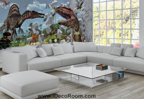 Image of Dinosaur Wallpaper Large Wall Murals for Bedroom Wall Art IDCWP-KL-000152