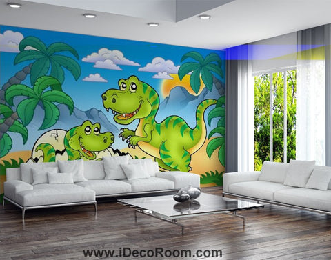 Image of Dinosaur Wallpaper Large Wall Murals for Bedroom Wall Art IDCWP-KL-000154