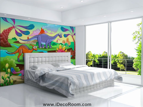 Image of Dinosaur Wallpaper Large Wall Murals for Bedroom Wall Art IDCWP-KL-000156