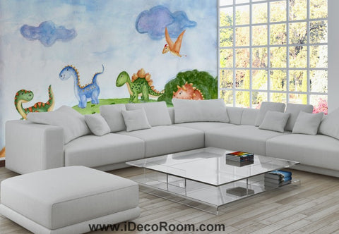 Image of Dinosaur Wallpaper Large Wall Murals for Bedroom Wall Art IDCWP-KL-000157