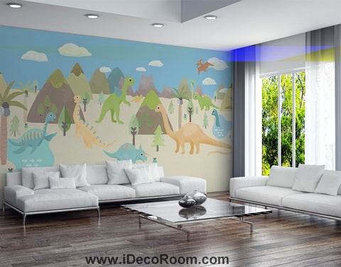 Image of Dinosaur Wallpaper Large Wall Murals for Bedroom Wall Art IDCWP-KL-000158