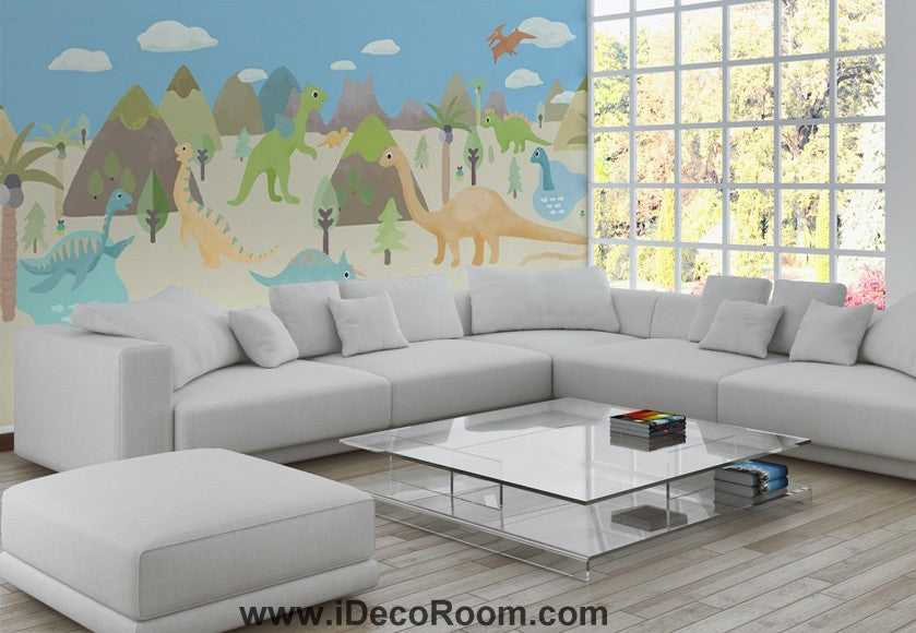 Dinosaur Wallpaper Large Wall Murals for Bedroom Wall Art IDCWP-KL-000158