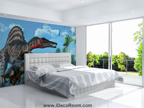 Image of Dinosaur Wallpaper Large Wall Murals for Bedroom Wall Art IDCWP-KL-000159