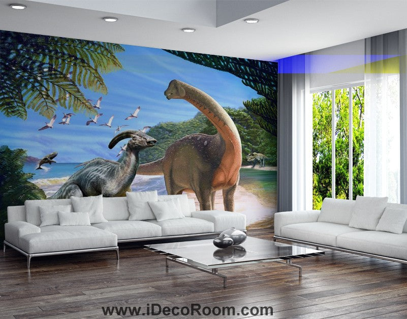 Dinosaur Wallpaper Large Wall Murals for Bedroom Wall Art IDCWP-KL-000161