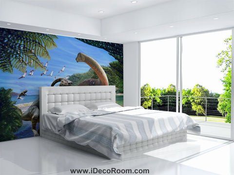 Image of Dinosaur Wallpaper Large Wall Murals for Bedroom Wall Art IDCWP-KL-000161