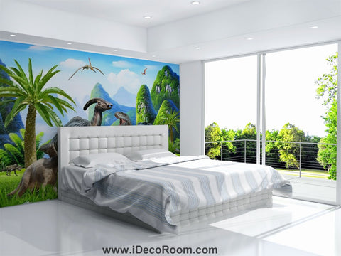 Dinosaur Wallpaper Large Wall Murals for Bedroom Wall Art IDCWP-KL-000162