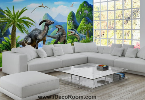 Image of Dinosaur Wallpaper Large Wall Murals for Bedroom Wall Art IDCWP-KL-000162